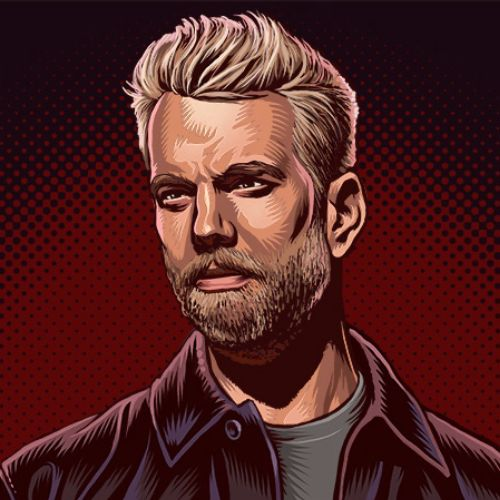 Anthony Jeselnik portrait illustration