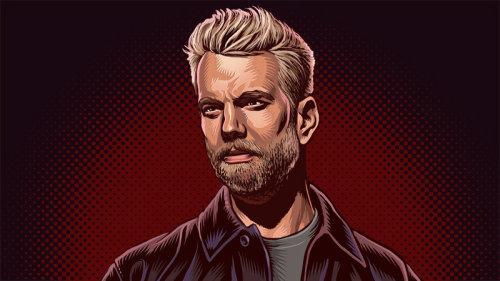 Ilustração de retrato de Anthony Jeselnik