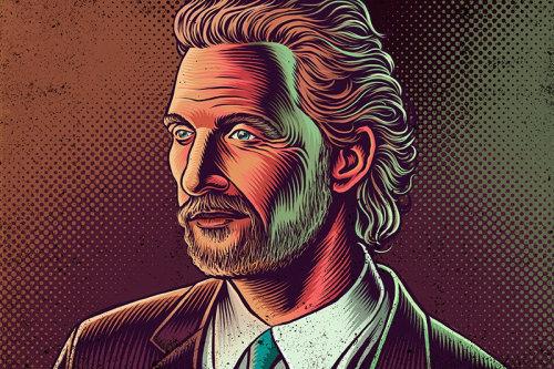 Ilustração de retrato de Matthew Mcconaughey