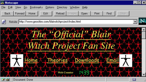 Animação do site Netscape