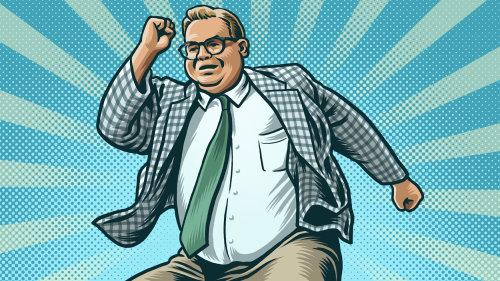 Animação de Chris Farley como palestrante motivacional Matt Foley