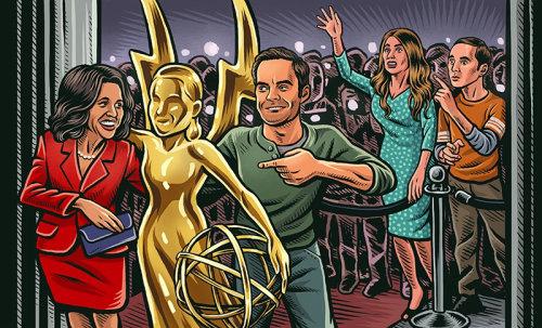 Pintura digital da festa Emmys