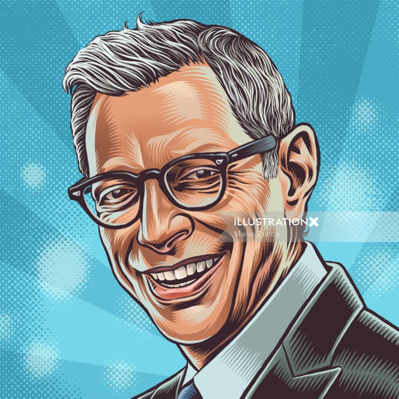 Jeff Goldblum portrait illustration