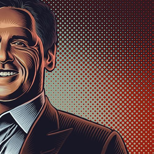 Mark Cuban portrait illustration