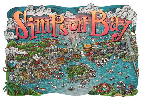 Map Illustration of Simpson Bay