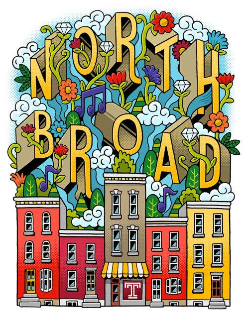 Arte de letras gráficas de North Board