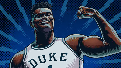 zion williamson portrait illustration