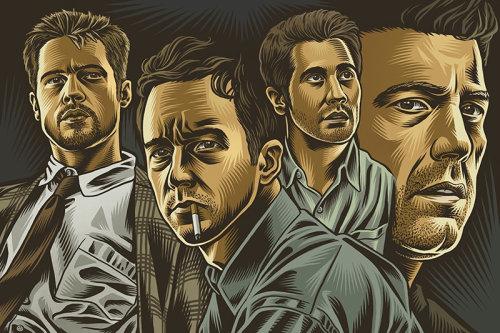 David Fincher movie poster art