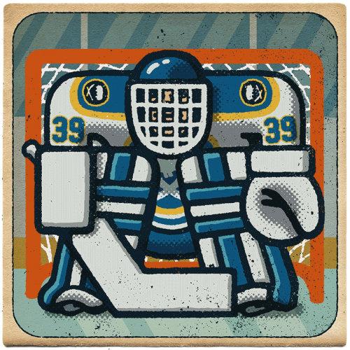 Hockey goalie graphic sticker