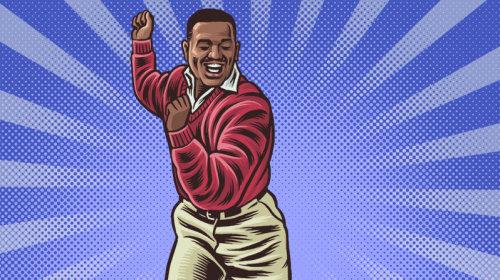 Carlton comic gif animation