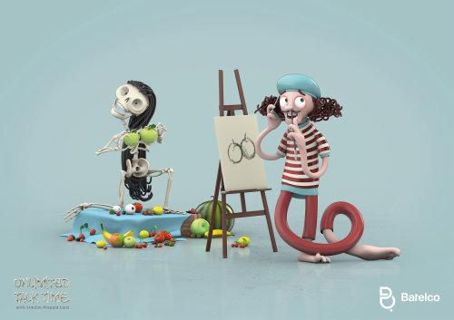 3d skeleton painting