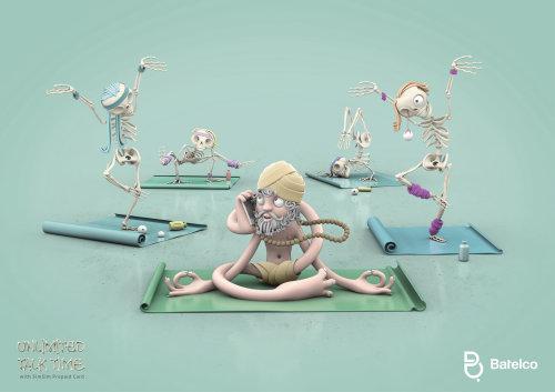 3d skeleton yoga
