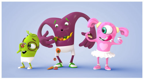 3d alien characters