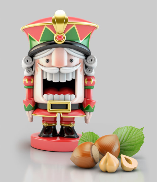 3d character with fruits