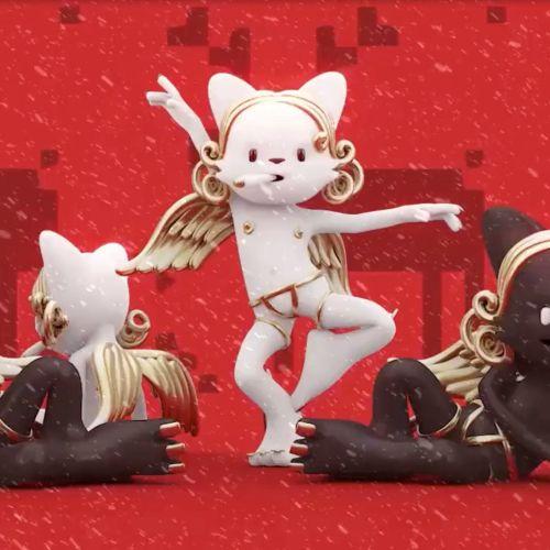 Animation dancing cat
