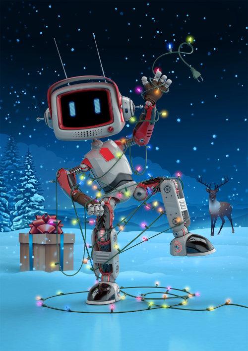3d cgi dancing robot