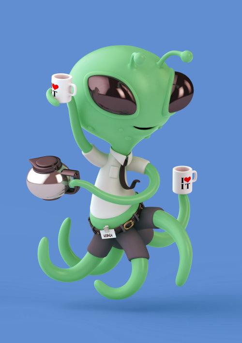 3d cgi Alien character