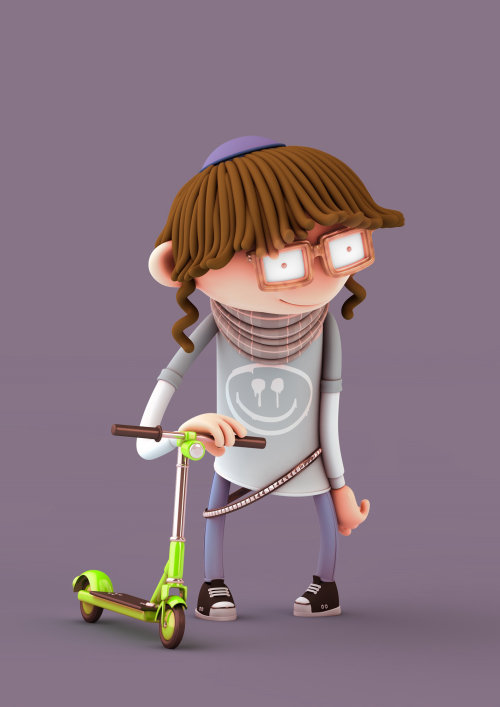 3d / CGI girl with cycle