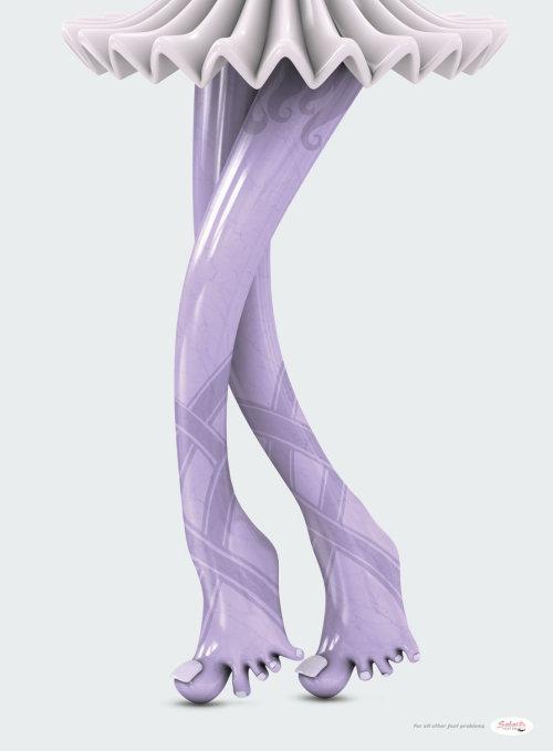 3d character women legs