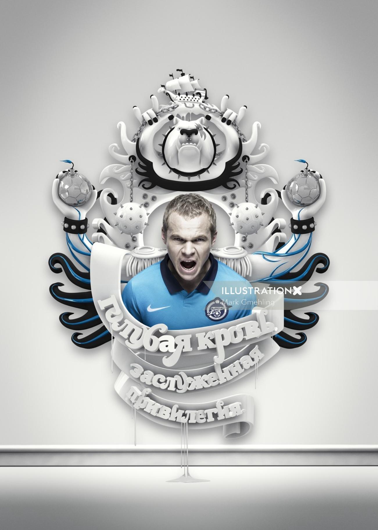 3d Conceptual football campaign
