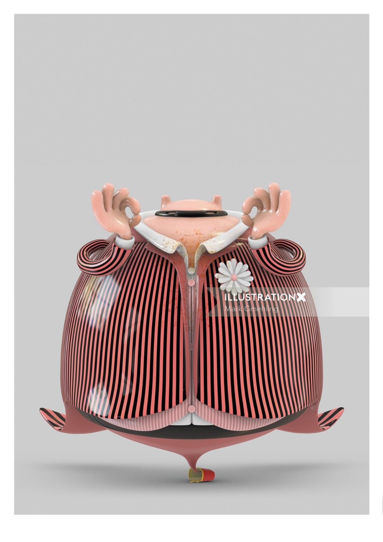 3d Character Design In Illustrator : Mark gmehling d character designer cinema rigging