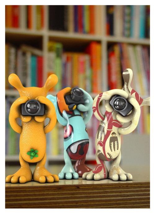 3d / CGI animals with cameras