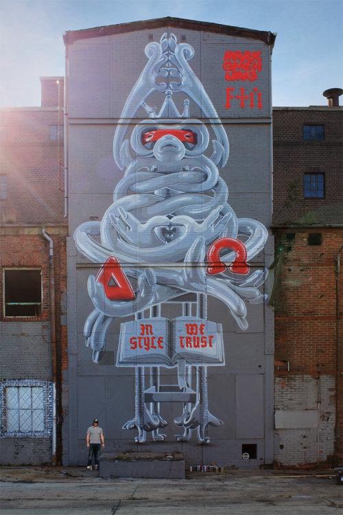 Cartoon character street art