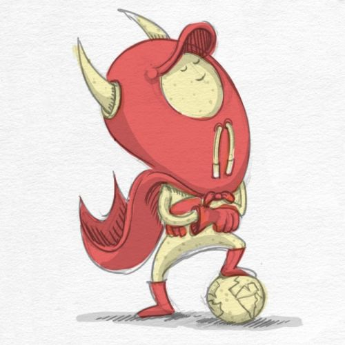 cartoon & humour character with horns