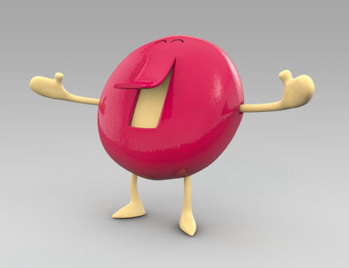 3d smiley character