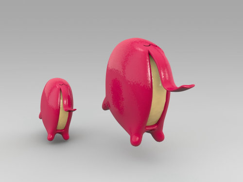 3d funny red characters