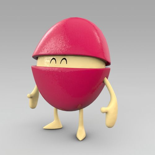 3d character standing