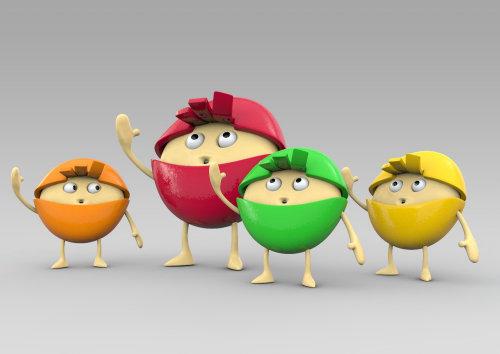 3d little characters