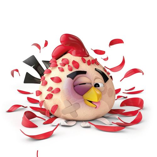 3d chicken with feathers