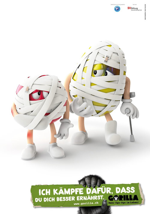 3d characters wrapped in tape