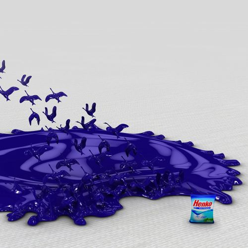 3d blue henko