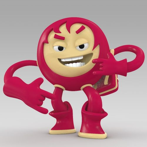 3d funny red guy