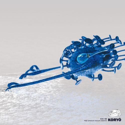 3d alien blue character