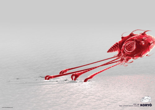 3d alien red character