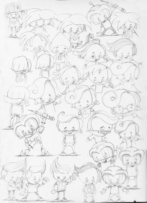 Line character design