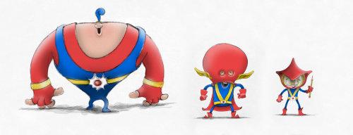 3d super heroes character