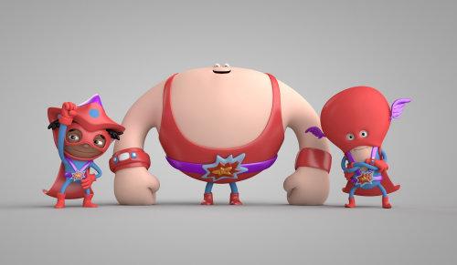 3d strange characters