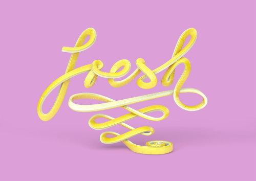 3d lettering fresh