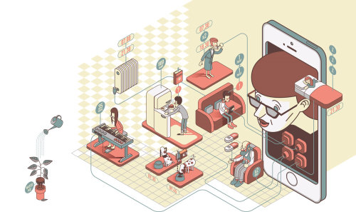 illustration du matériel des applications intelligentes.