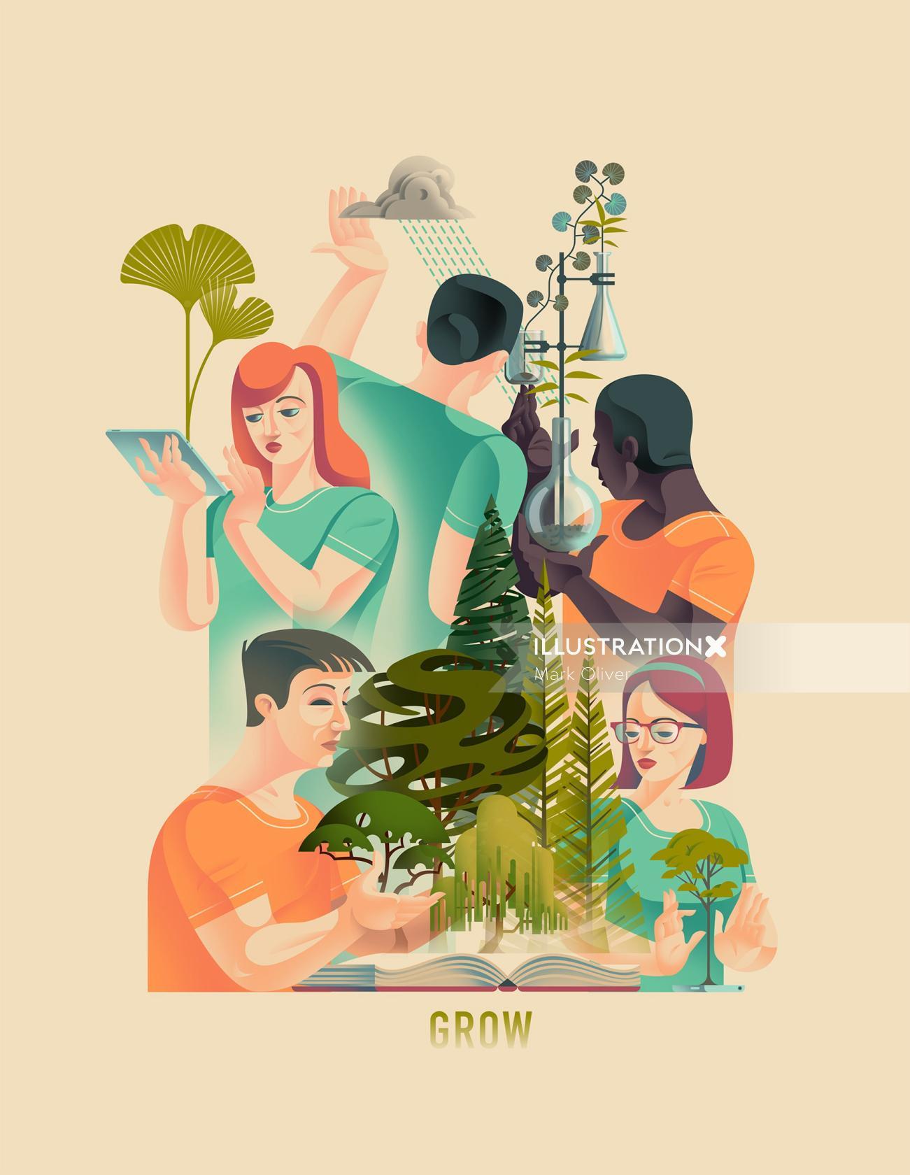 Plant biology poster art