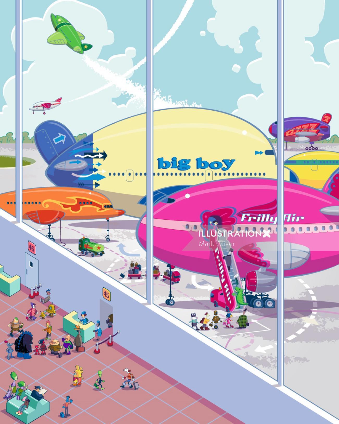 Jumbo Aeroplanes for book cover