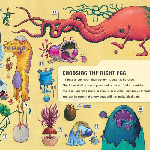 Eggs spread Aliens poster