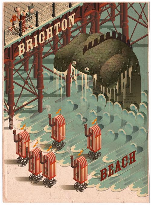 People at brighton beach