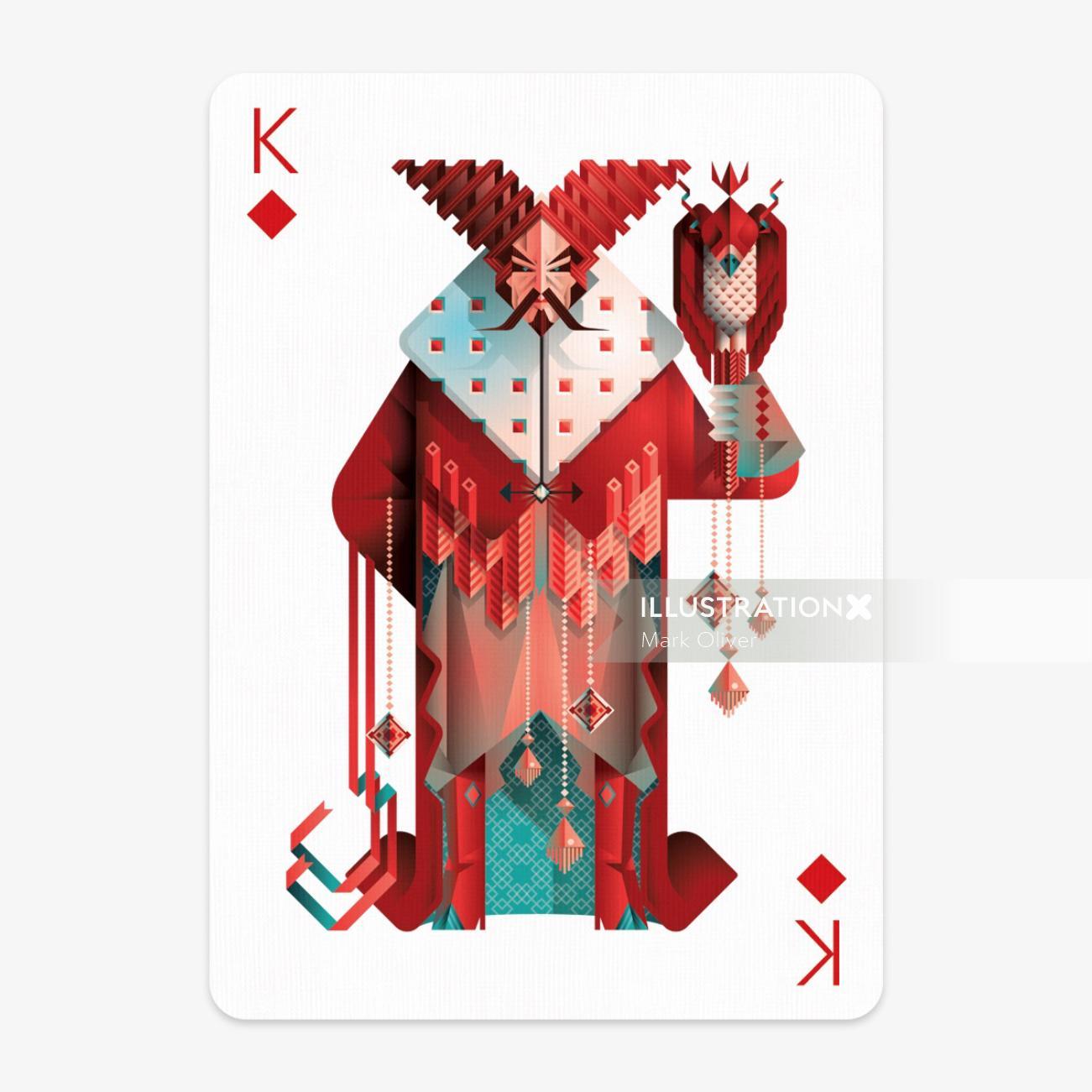 King playing card design