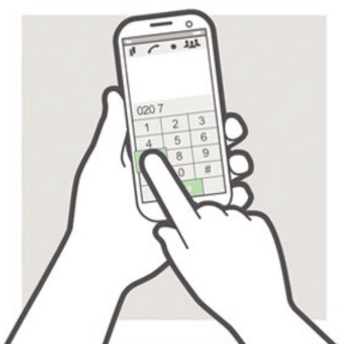 Vector animation of phone dial pad