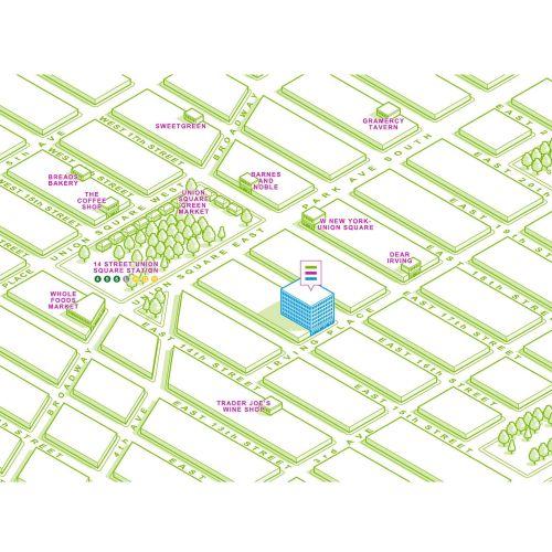 14 street union map illustration